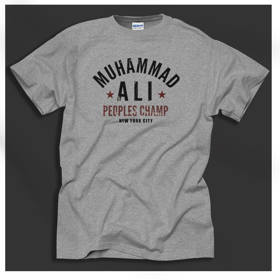 79d8c74b Muhammad Ali USA Boxing Cassius Clay People'S Champ Grey T Shirt Big Sizing T  Shirts Designer Funny Tee Shirt From Amesion27, $12.08| DHgate.Com
