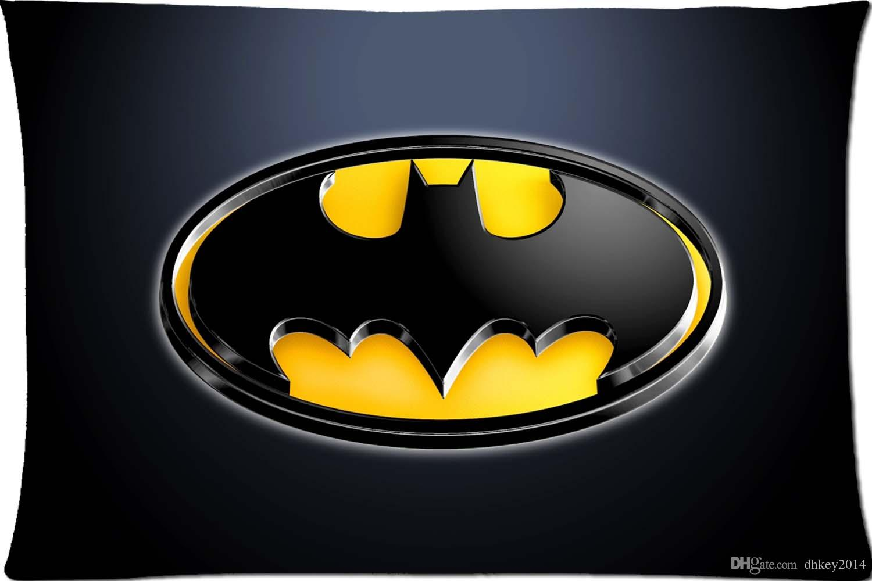 Batman Logo Kühle Muster Kundenspezifische Kissenbezug Abdeckung Zwei Seitenbild Größe 20x30 Zoll