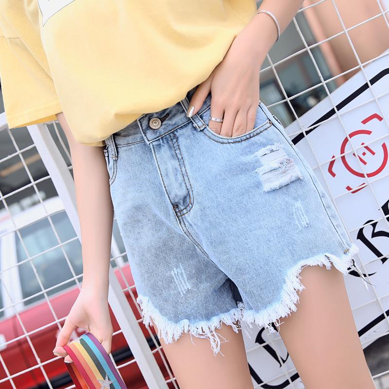2019 Harajuku Sweet Tassel High Waist Blue Short Sexy Jeans Women Summer  Korean Fashion Casual Wide Feet Short Jeans Ladies Clothes From Caicloth,  ...