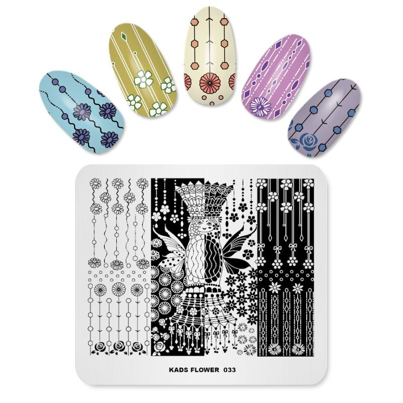 photograph about Printable Nails titled Nail Stamping Plates Fresh new Introduction Nail Style and design Templates Plates Stamp Plate Stencils For Nails Flower Critical Practices