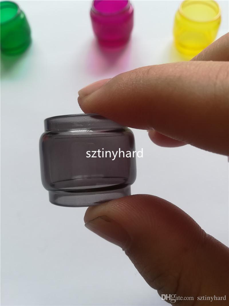 2018 el más nuevo 8 ml de colores convexo bombilla extendida Fat Boy Pyrex Reemplazo tubo de vidrio para Smok Smoktech TFV12 Prince atomizador de tanque