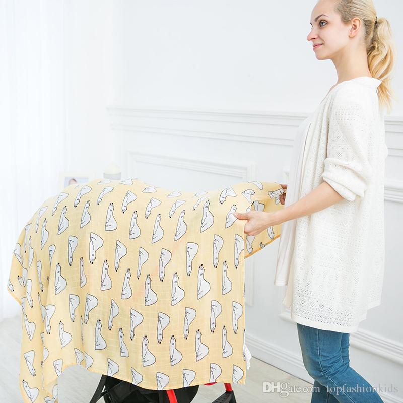 Muselin Baby Shawls And Wraps Unicorn Pineapple Print Newborn