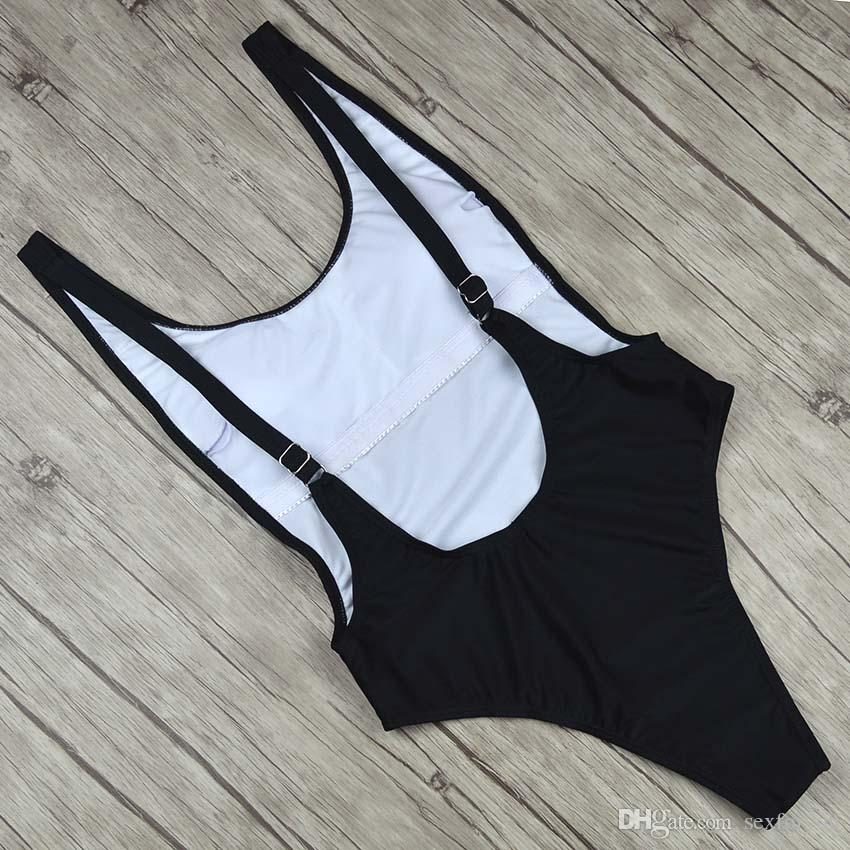 Thong Black Sexy One Piece Swimsuit Solid Female Women Fused Swimwear Backless White Brazilian May Bather Monokini XL