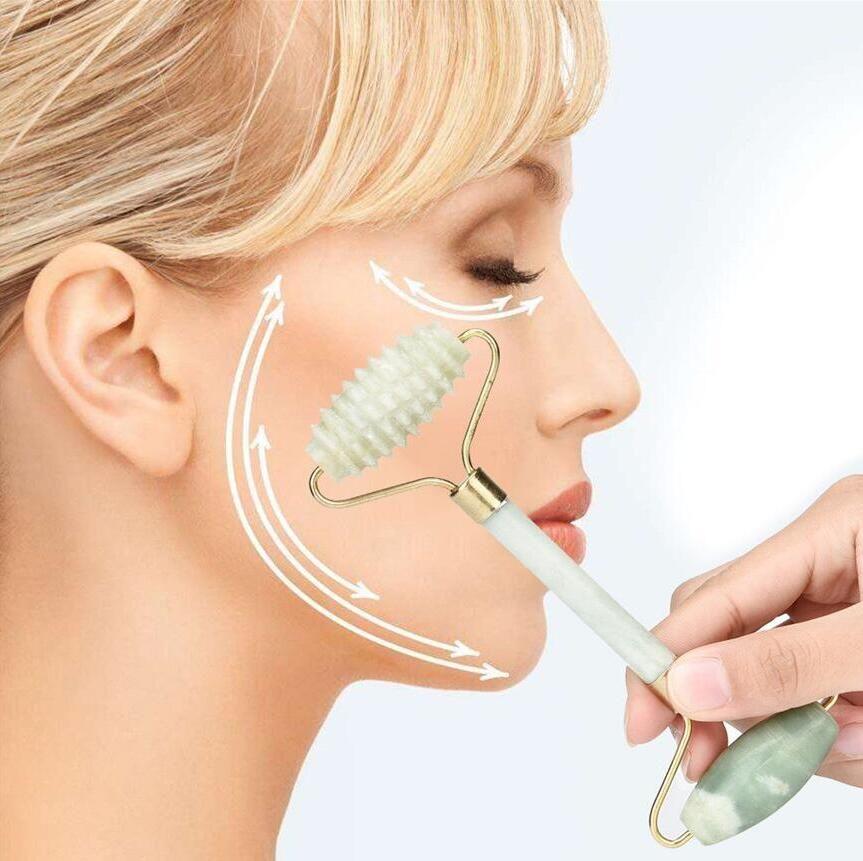 Gesichtsmassage Jade Roller Gesicht Körper Kopf Hals Natur Schönheit Gerät Jade Roller Massager Startseite Outdoor Kostenloser Versand