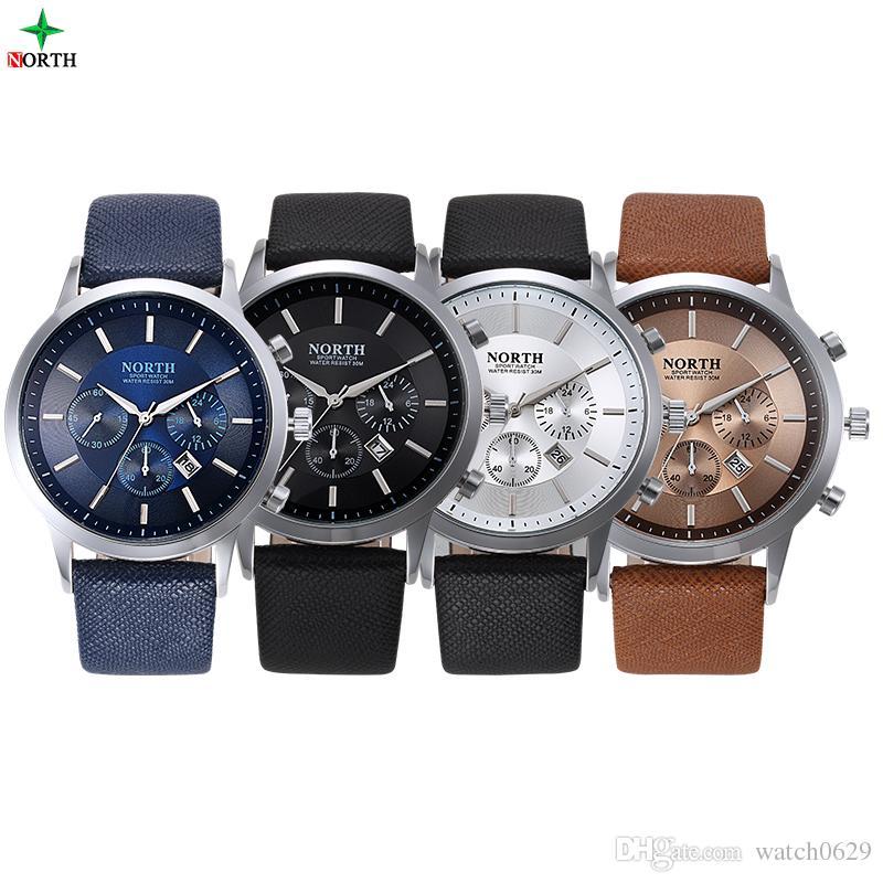En Montre M Bracelet Mâle 30 De Véritable Quartz Homme Cuir Hombre Acheter Sport North Hommes Étanche Relojes Mode OwkiXZuPlT