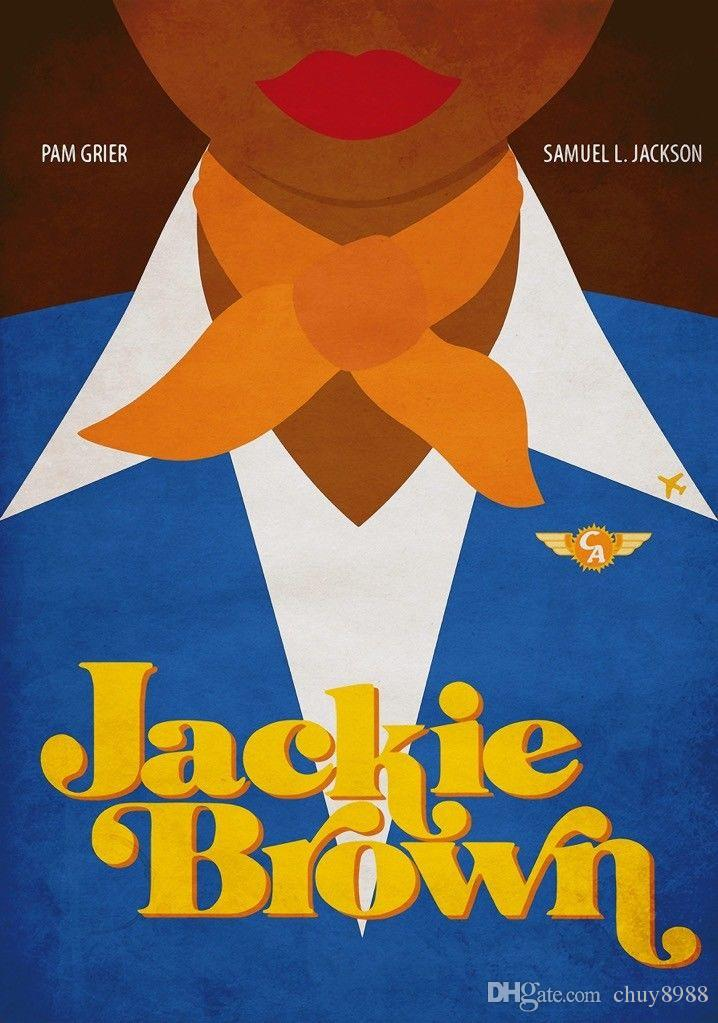 3700bd92719a 2019 JACKIE BROWN Movie PHOTO Print POSTER Film Pop Art Silk Poster 20x30  24x36 24x43 From Chuy8988