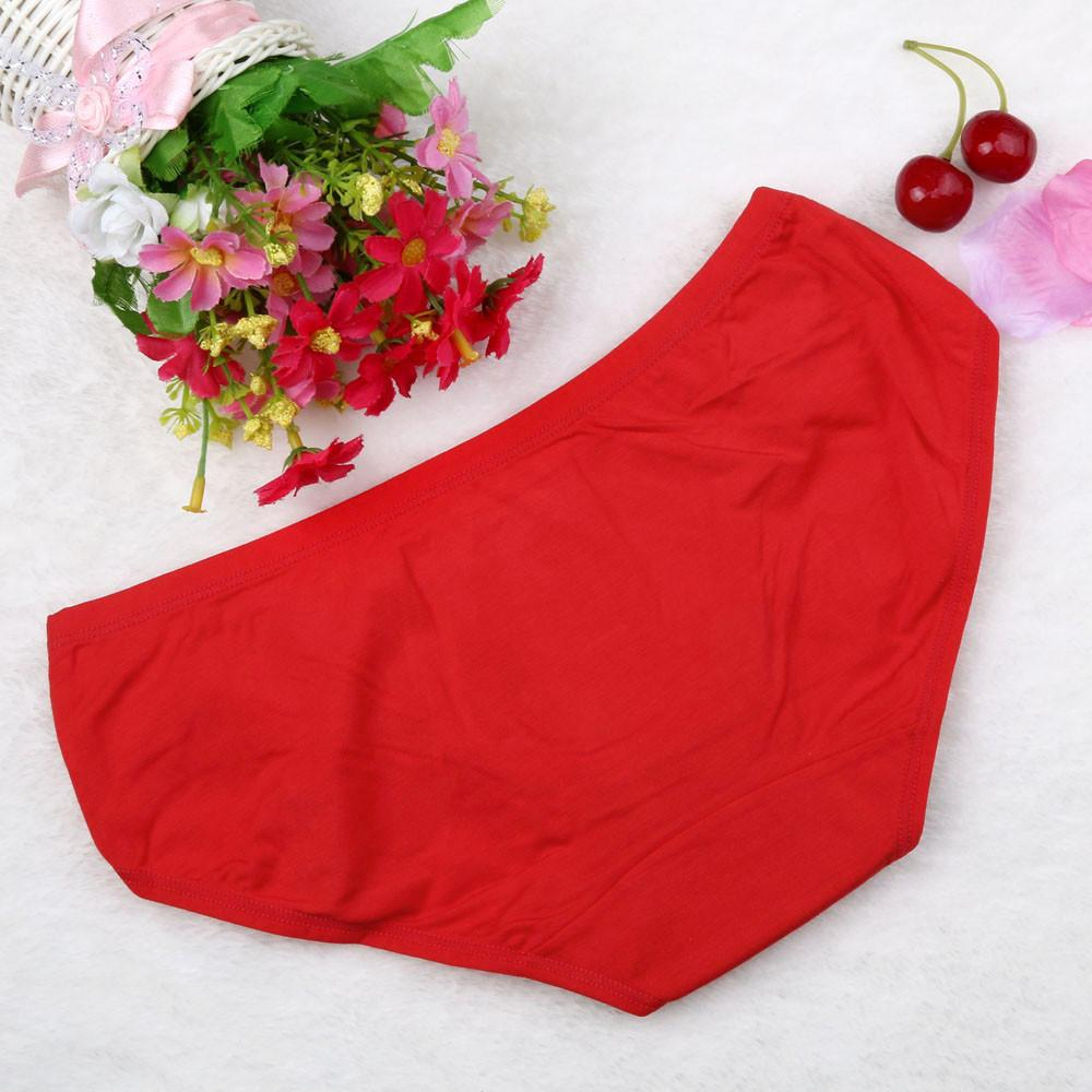 KLV Red Sexy Night Wearing Cotton Briefs Panties Underpants Hipster Underwear Charming gift for lovers Comfortable