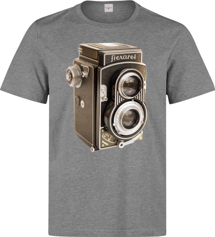 7184a6897 Compre Flexaret Vintage Camera Artwork Onda Retro Hombres Mujer Disponible Camiseta  Gris A  11.01 Del Tgsuppliesuk
