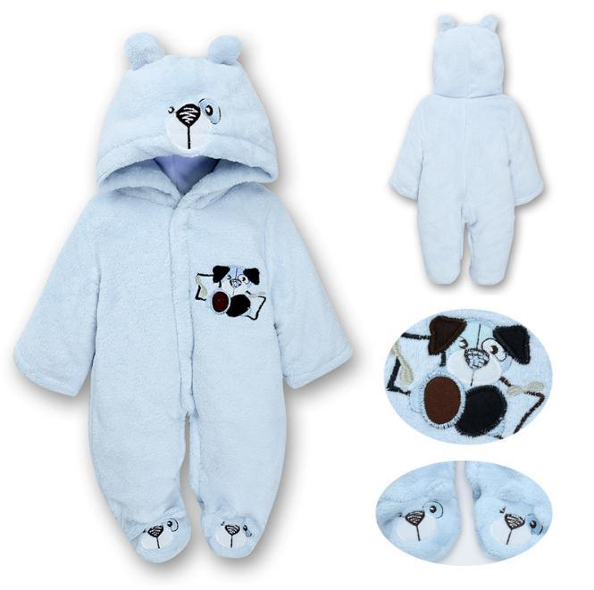 6c085a7bc4dc 2018 winter newborn baby Romper Long Sleeve Hooded Top boy Infant Overalls  with One Piece rabbit Logo for Toodler jumpsuit
