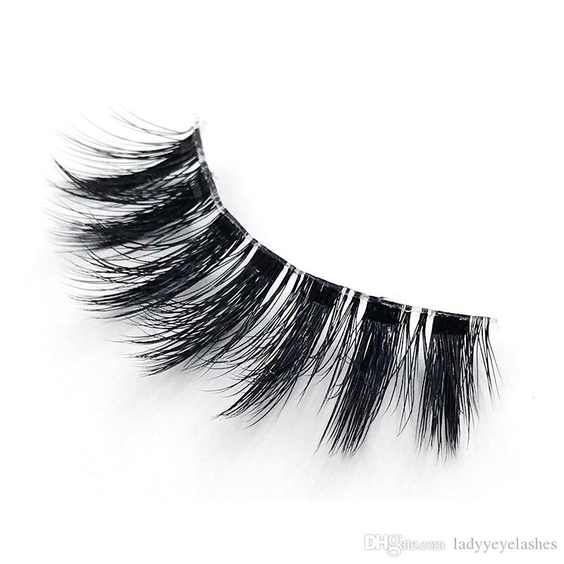 New Silk Eyelashes 3D Silk Protein 3D Y10 Lashes Luxury Hand Made faux mink False Eyelashes Cruelty Free Lashes natural eyelash3d lashes