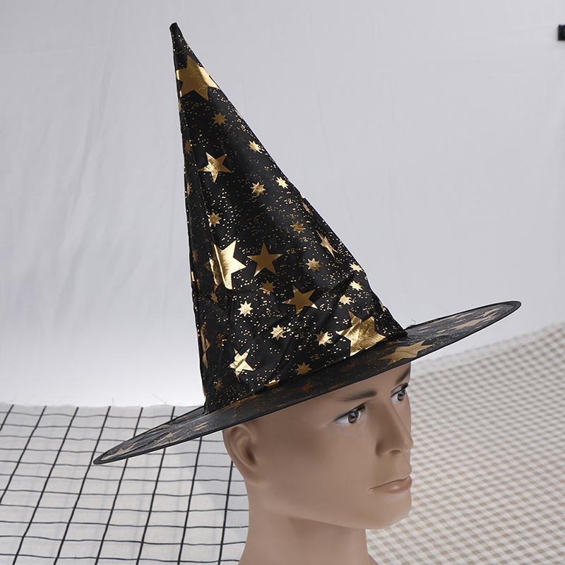 72b6e8430627e Compre Sombreros De Brujas Masquerade Ribbon Wizard Hat Sombreros De Fiesta  Accesorios De Disfraces Cosplay Fiesta De Halloween Decoración De Disfraces  ...
