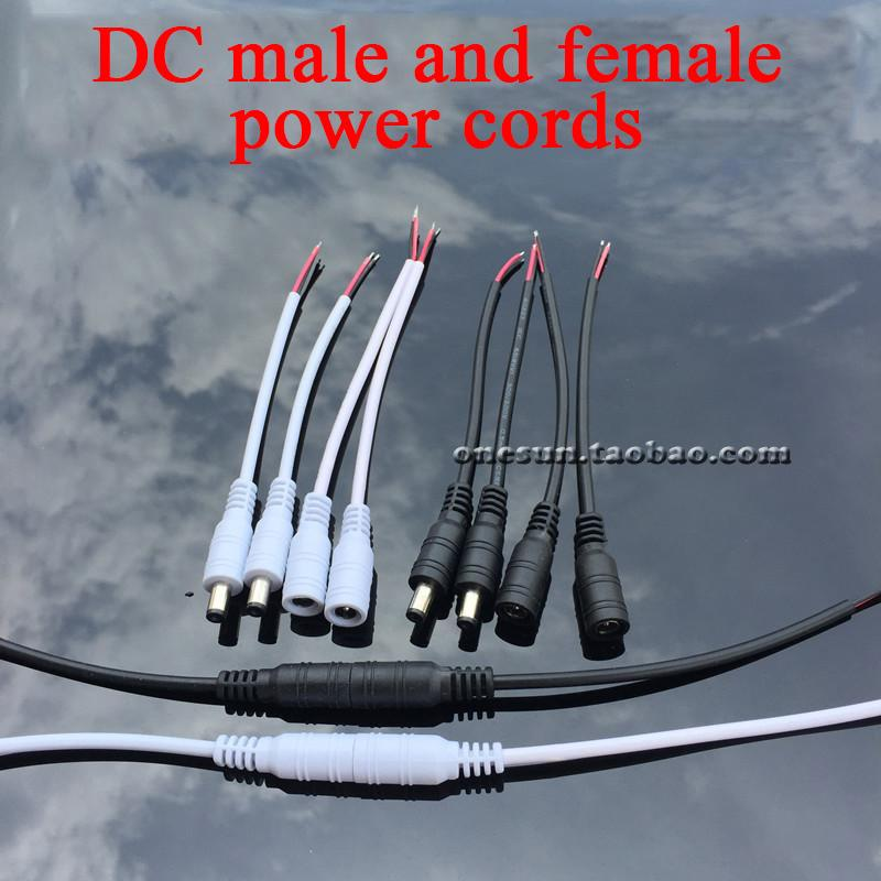 15CM Power Cable Wire DC Power Cable Connectors Plug Wires Male Female Plug Power Cable Male Plugs