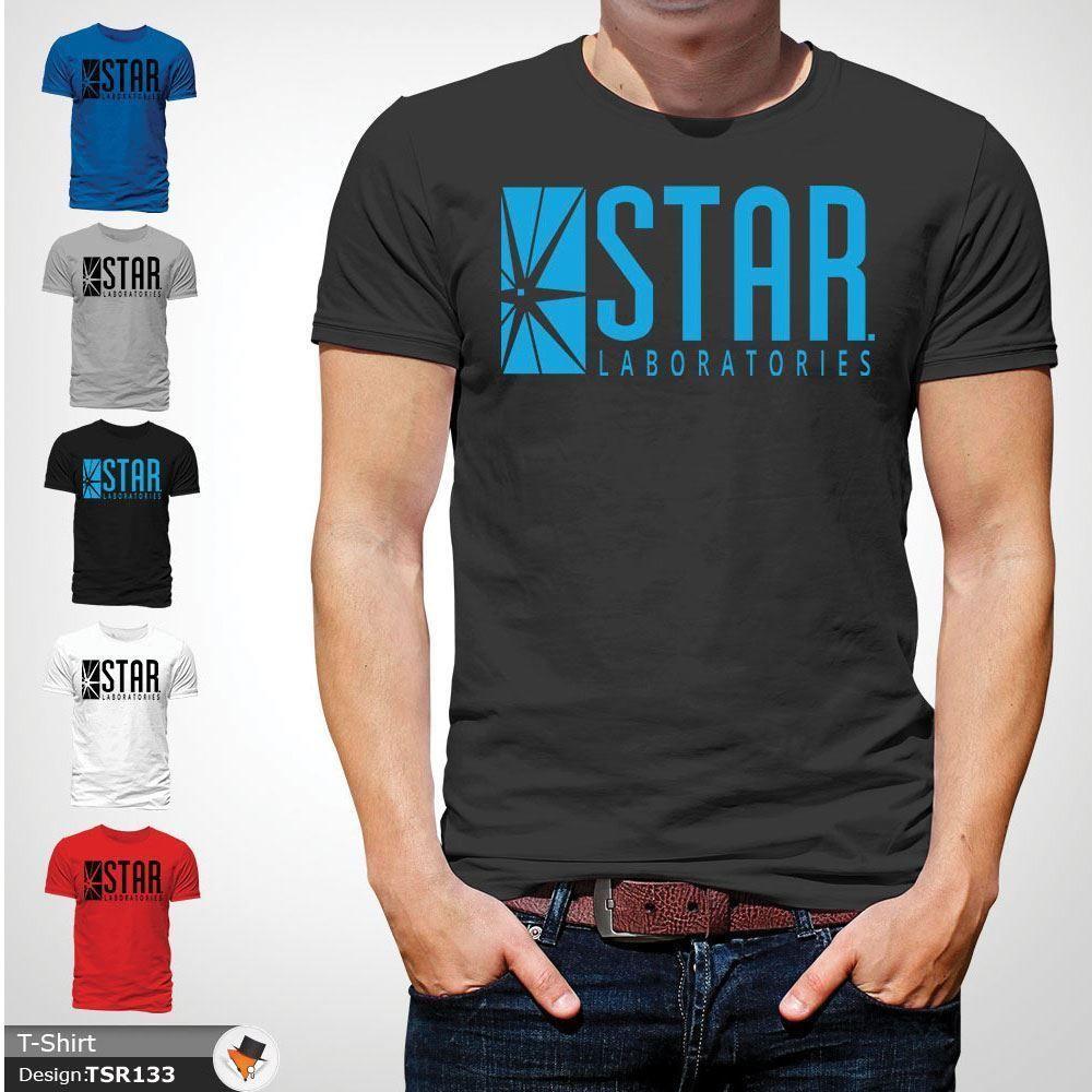 Großhandel Stern Labor T Shirt Spitze Der Blitz S.T.A.R. Labs Geschenk T  Shirts Dunkelgrau T Shirt Herren Digital Direktdruck Custom Short Von ... d55dbbb8db