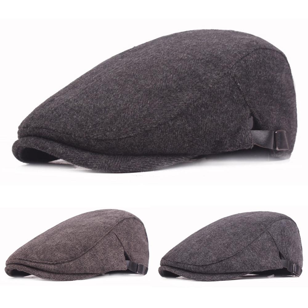 f2856393 Men Cotton Beret Hat High Quality Outdoor Adjustable Golf Driving ...