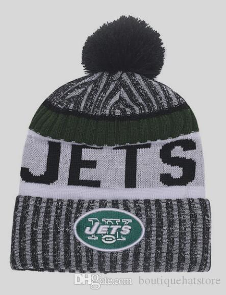 Hot Winter Fashion Casual Beanie Cuffed Knitted Hats American NY Jets  Sports Hip Hop Teams Beanies Skull Caps No Min Order UK 2019 From  Boutiquehatstore c4d921a04e4a