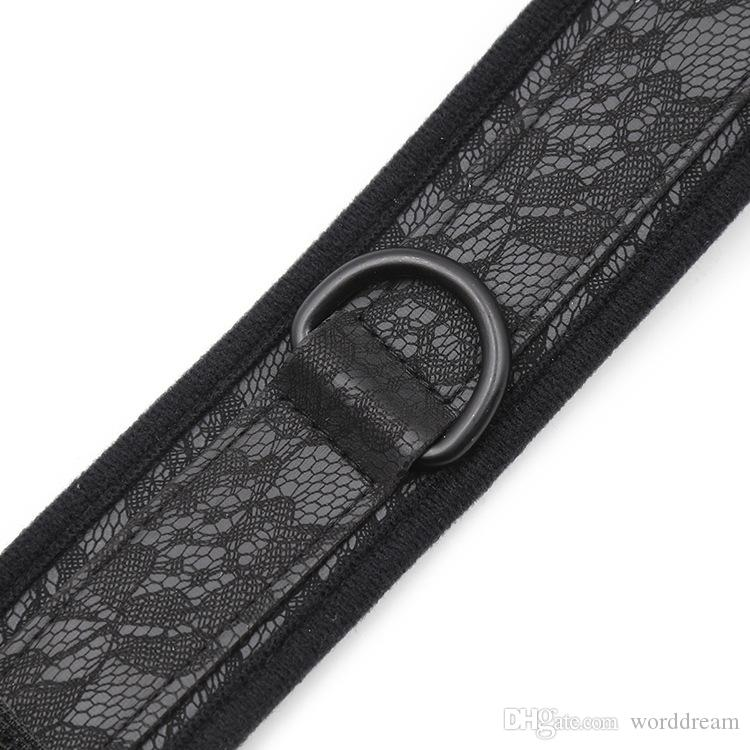 Lace BDSM Dog Collar Slave Bondage Restraints Belt Fetish Erotic Sex Products Adult Toys For Women - HS32