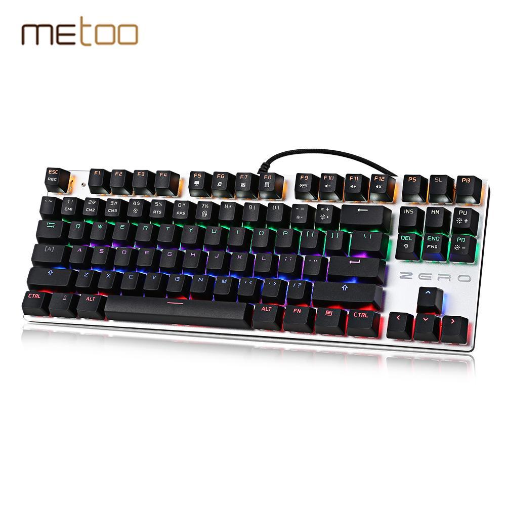 b223ee4f5d2 METOO Zero Mechanical Keyboard 87/104 Keys Blue Switch Gaming Keyboard For  Desktop Laptop With LED Backlight PK K753 Ergonomics Keyboard External  Keyboard ...