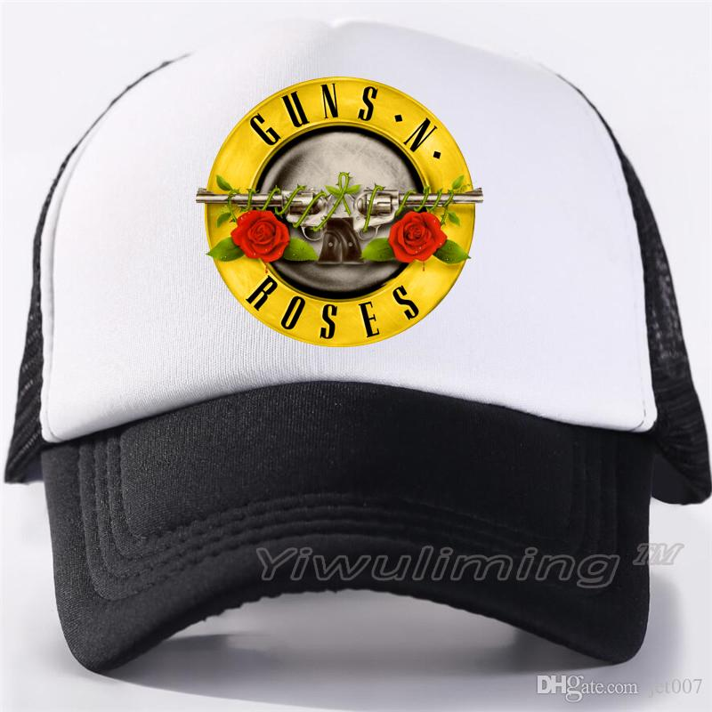 Guns And Roses Hat Men Trucker Caps Rock Music Cap Rock Band Guns ... a4582e532a3a