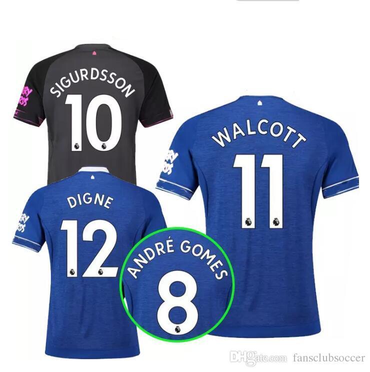 Everton Home Blue Soccer Jersey 18 19  10 SIGURDSSON Everton Soccer ... 667e47253