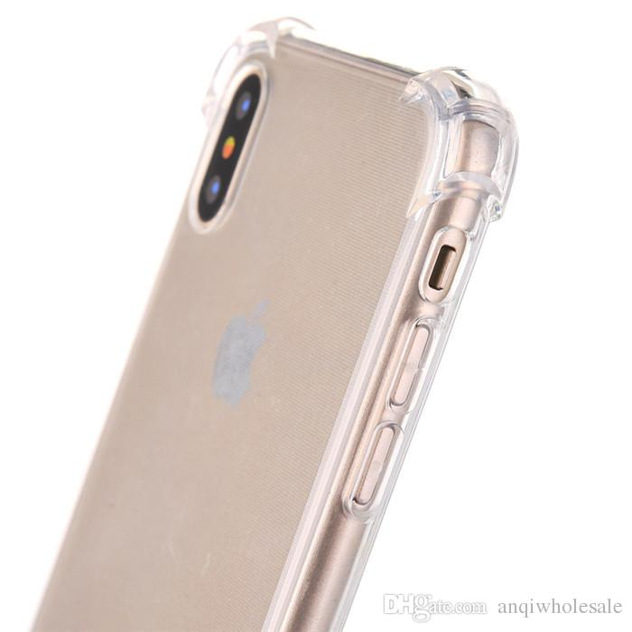 Factory Price Anti-knock Soft TPU Transparent Clear Protect Cover Shockproof Case For iPhone 6s 6 7 8 plus X samsung s8 s8 plus note8