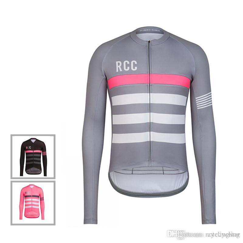 2018 Autumn Long Sleeve RCC Cycling Jersey Breathable Mountain Bike  Clothing Men Cycling Shirts Road Bicycle Clothes Maillot Ciclismo D0302  Padded Bike ... 219f23f9a