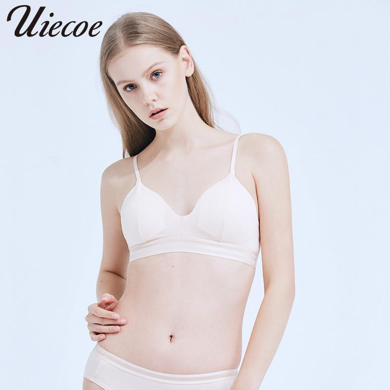 a4d29c66f6bdc 2019 Wholesale No Rims Girl S Bra Solid Color Wire Free Sleep Bras Lingerie  Simple And Comfortable Sleep Bras Ultra Thin Cup From Shuangyin002