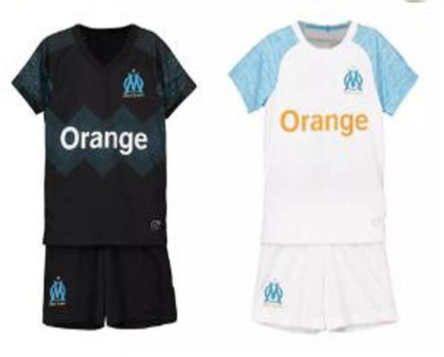 c7fcf0586b026 Acheter 18 19 Olympique De Marseille Maillot Kids Soccer Maillot 2018 19 Om  Boys Chemise Full Set 10 Payet 19 L.Gustavo Maillots De Foot De  13.62 Du  ...