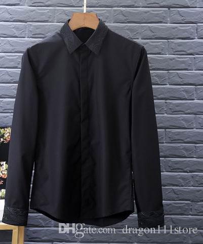 99958a6a36 Compre Camisa De Vestir Slim Fit De Los Hombres Ocasionales Camisa De Vestir  De La Calidad Superior De La Fibra De Los Hombres De Top Shirt Camisa De  Vestir ...