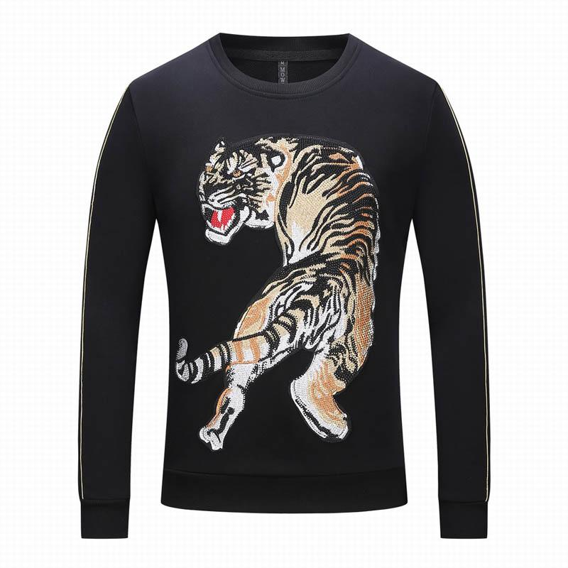 227349582b4f 2019 Animal Printing Sweatshirt New Autumn  001And Winter Wild Men S  Pullover Hip Hop Style Clothing Fleece Jacket Pullover Sportswear PP From  Toptee2