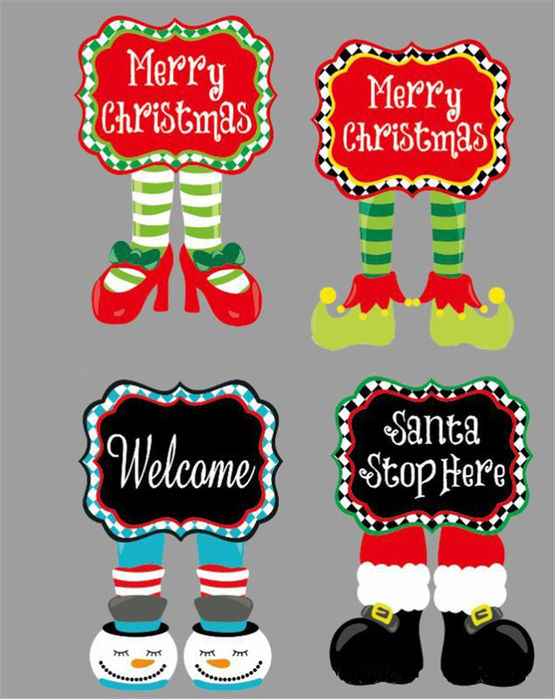 Christmas Shoes Diy.42 28cm Christmas Garden Flag Diy Banner Flags Merry Chirstmas Elf Shoes Garden Flag Home Yard Flag For Festival Decoration Kids Gifts