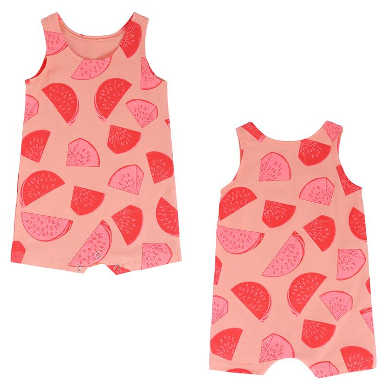 ab03f495984 Baby Romper Summer Infant Watermelon Print Jumpsuit for Girls ...