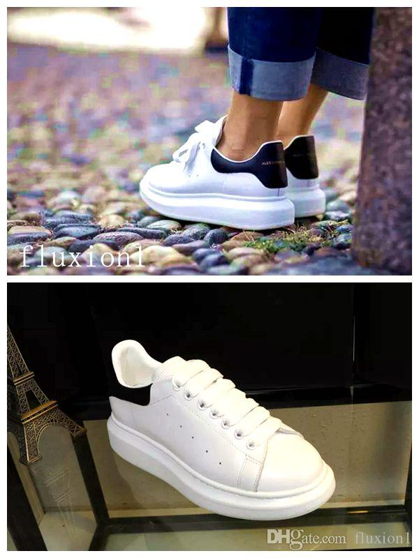 3738aa00b9 Fashion Designer shoes black white pink Comfort Girl Women Sneakers Leather  Shoes Mens Casual luxury shoe size 35-43