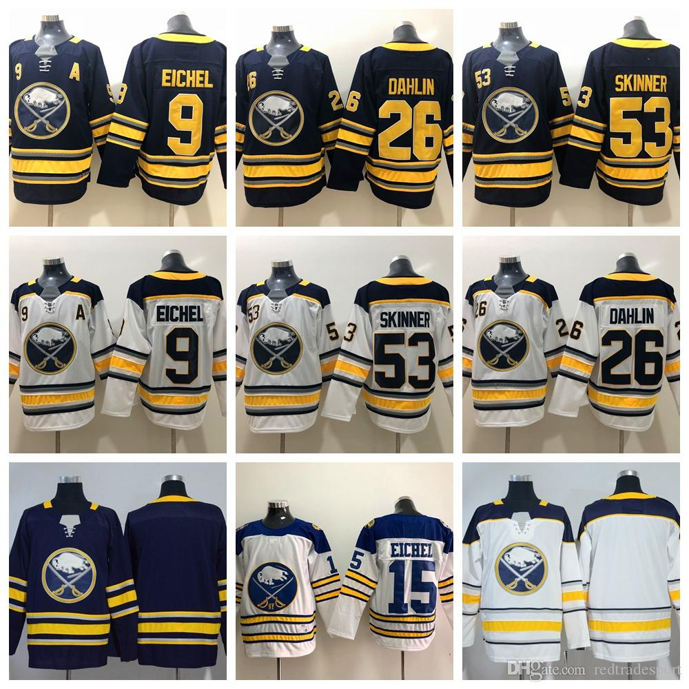 bb68b000e ... low price 2019 2018 buffalo sabres hockey jerseys 9 jack eichel 26  rasmus dahlin 53 jeff clearance buffalo sabres blue premier jersey  customizable nhl ...