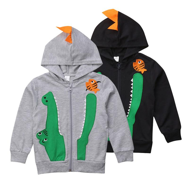 eb5608d4 Brand New Child Boy Kids Hooded Coat Outwear Sweatshirt Crocodile Tops Coat Hoodie  Hooded Sweater Outfits Outerwear Kids Quilted Jackets Jackets For Kids ...