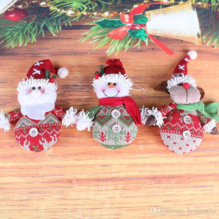 christmas santa claus snowman elk doll toy christmas tree hanging ornaments decoration for home xmas party new year gift christmas decorations sale