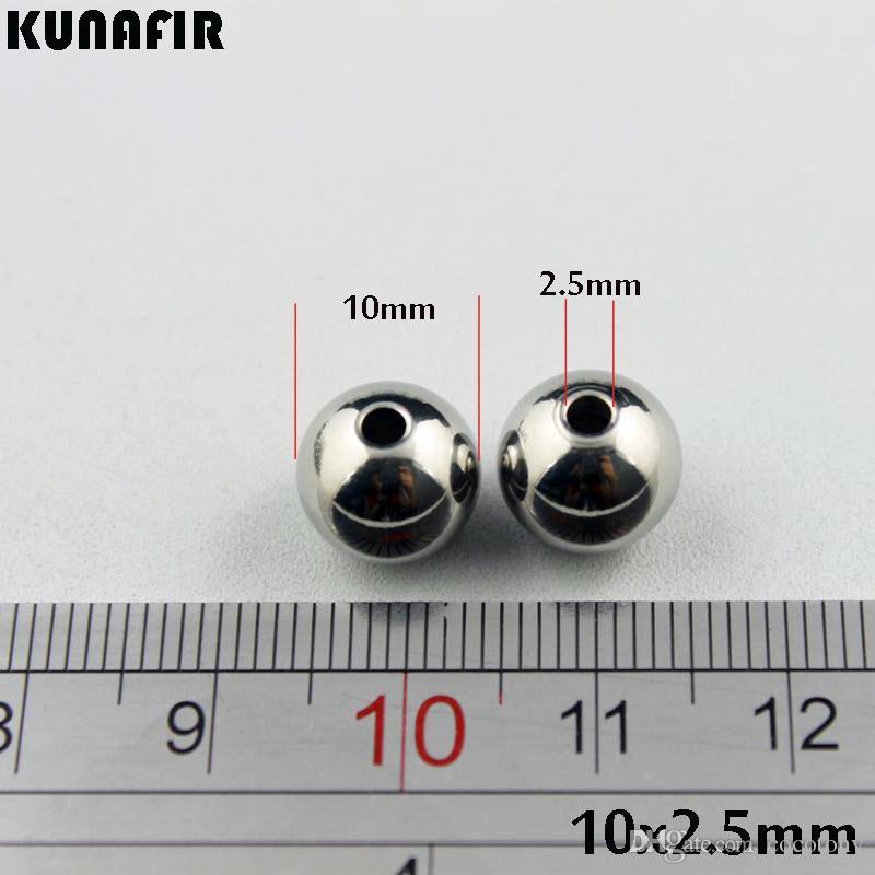 10mm contas de aço inoxidável suave jóias acessórios DIY peças ZSP032