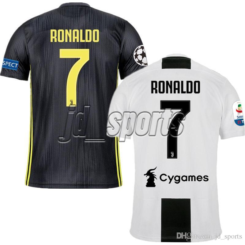 63ade637d8 Compre 2018 19 Juventus Casa Fora Camisas De Futebol 2019 Dybala Ronaldo  Pjanic Futbol Camisa Camisa De Futebol Camisetas Kit Maillot 18 19 Juve De  ...