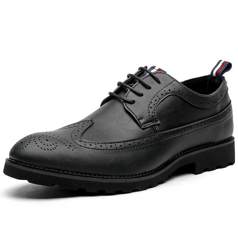 f54df1a352da Mens Brogue Leather Business Dress Shoes Men Fashion Designer formal  Oxfords shoes Classic men wedding shoes men's Evening pointed Shoe