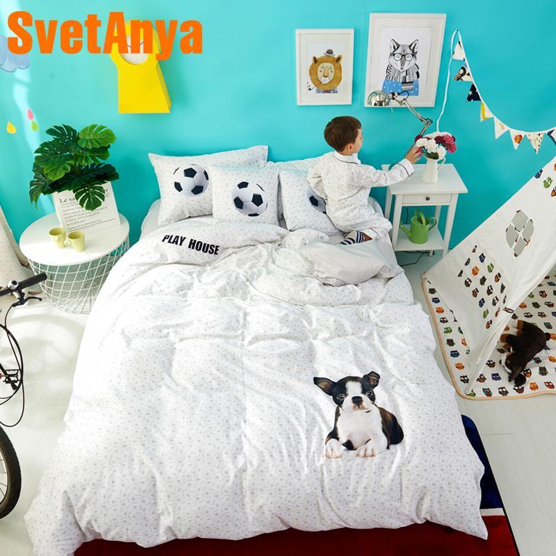 Svetanya Dog Print Sheet Pillowcase Quilt Cover Sets 100% Cotton Luxury Teens  Bedding Set Cheap Comforters Duvet Cover Set From Agung, $564.43  DHgate.Com