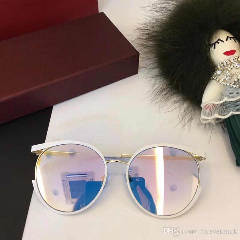 564917b6d Compre Brand Designer Óculos De Sol Para Mulheres Round Runway Óculos De Sol  De Moda Com Caixa Original Alloy Frame Uv400 Protect Lens De Forevermark,  ...