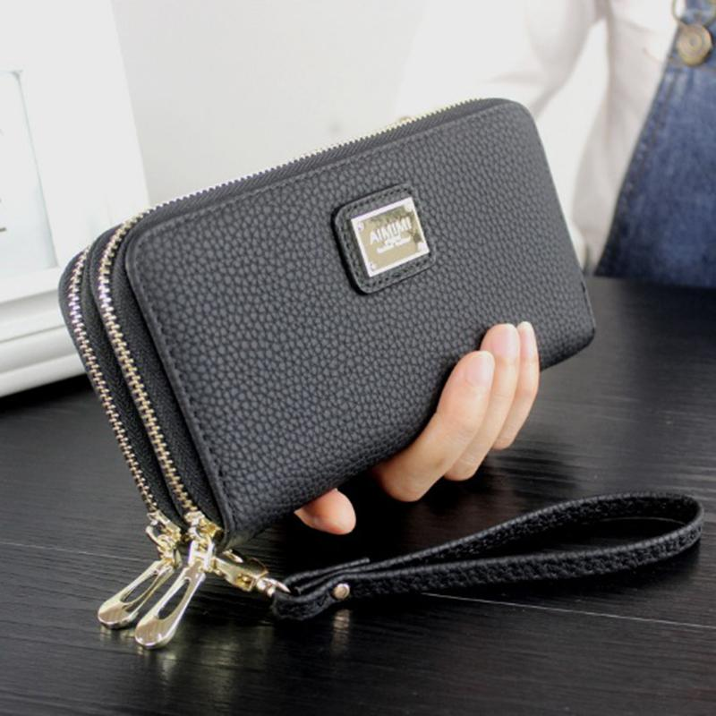 916a29a69a84 Wristband Women Long Clutch Wallet Large Capacity Wallets Female ...