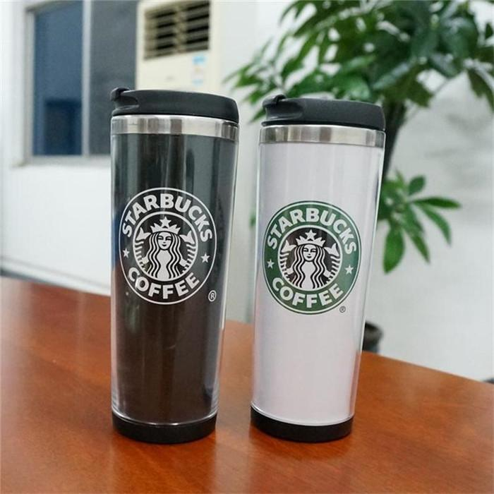 Starbucks Double Wall Mug Flexible Cups Coffee Cup Mug Tea Travelling Mugs Tea Cups Wine Cups 2 color