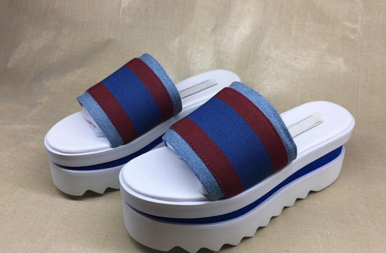 555785d4b62 2018 Summer Stella Mccartney Star Sandals Genuine Leather Elyse Platform  Women Shoes 4121 Blue Shoes Cheap Sandals From Brand shoes88