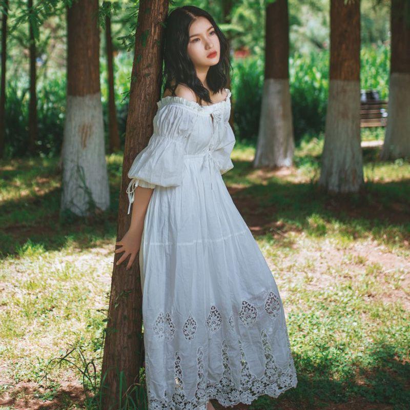 Online Cheap 2017 New Dress Vintage Princess Nightgowns Goddess Long