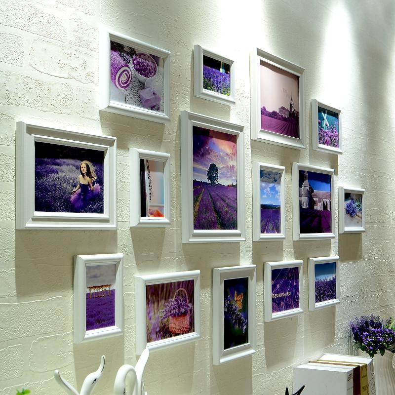2018 Modern White Stylish Photo Frames Set Quality Home Hanging ...