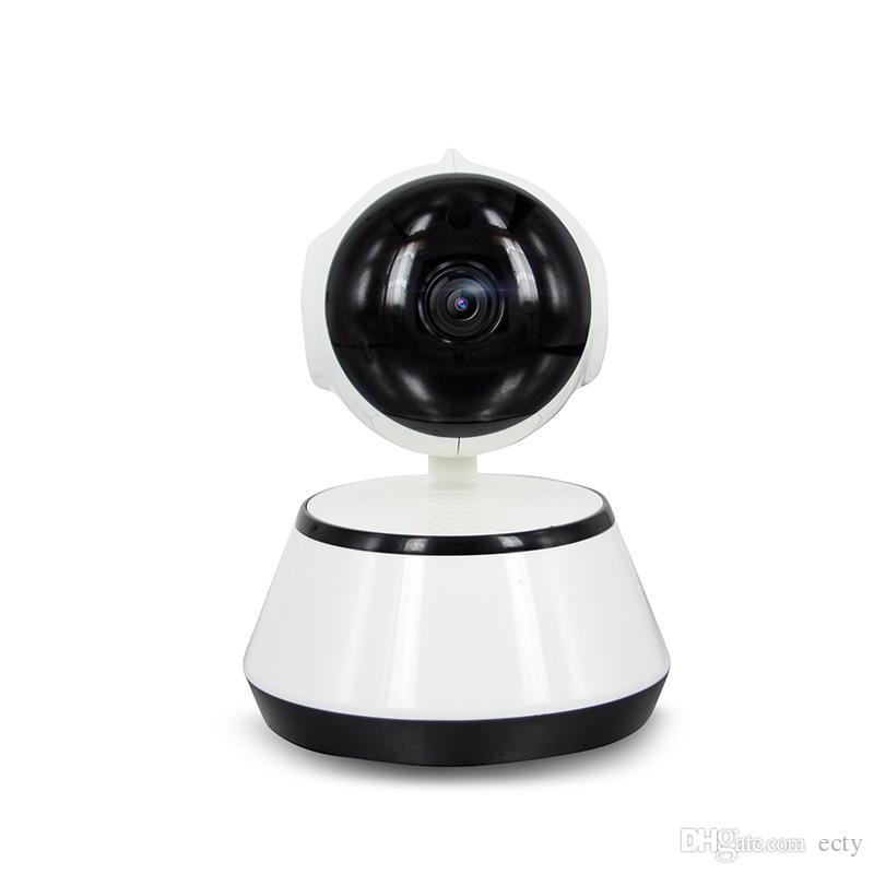 New! 팬 틸트 무선 IP 카메라 와이파이 720P CCTV 홈 보안 캠 마이크로 SD 슬롯 지원 마이크 P2P 무료 APP의 ABS 플라스틱