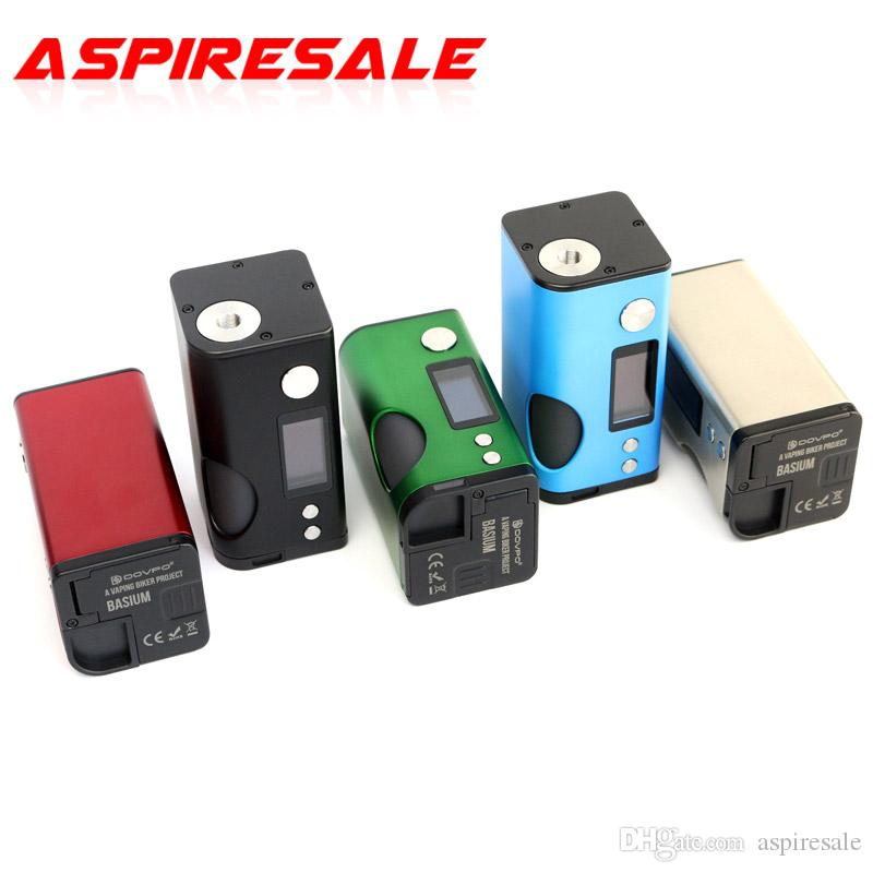 Authentic Dovpo Basium Squonk 180W Mod 0,96 Zoll OLED-Bildschirm Dual 18650-Batterie-Squonker-Box mit 6 ml Silikonflasche E-Zigarette Mods