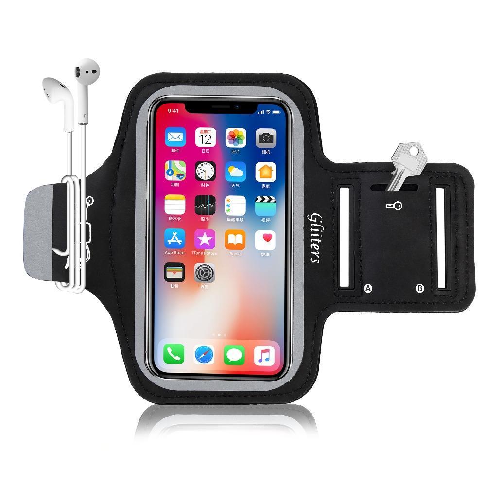 4f0716c0cfe Carcasa Celular Brazalete Para IPhone 5S Brazalete Corriente Teléfono  Celular Banda De Brazo Corriente Para Iphone 5,5C, SE Con Llavero, ...