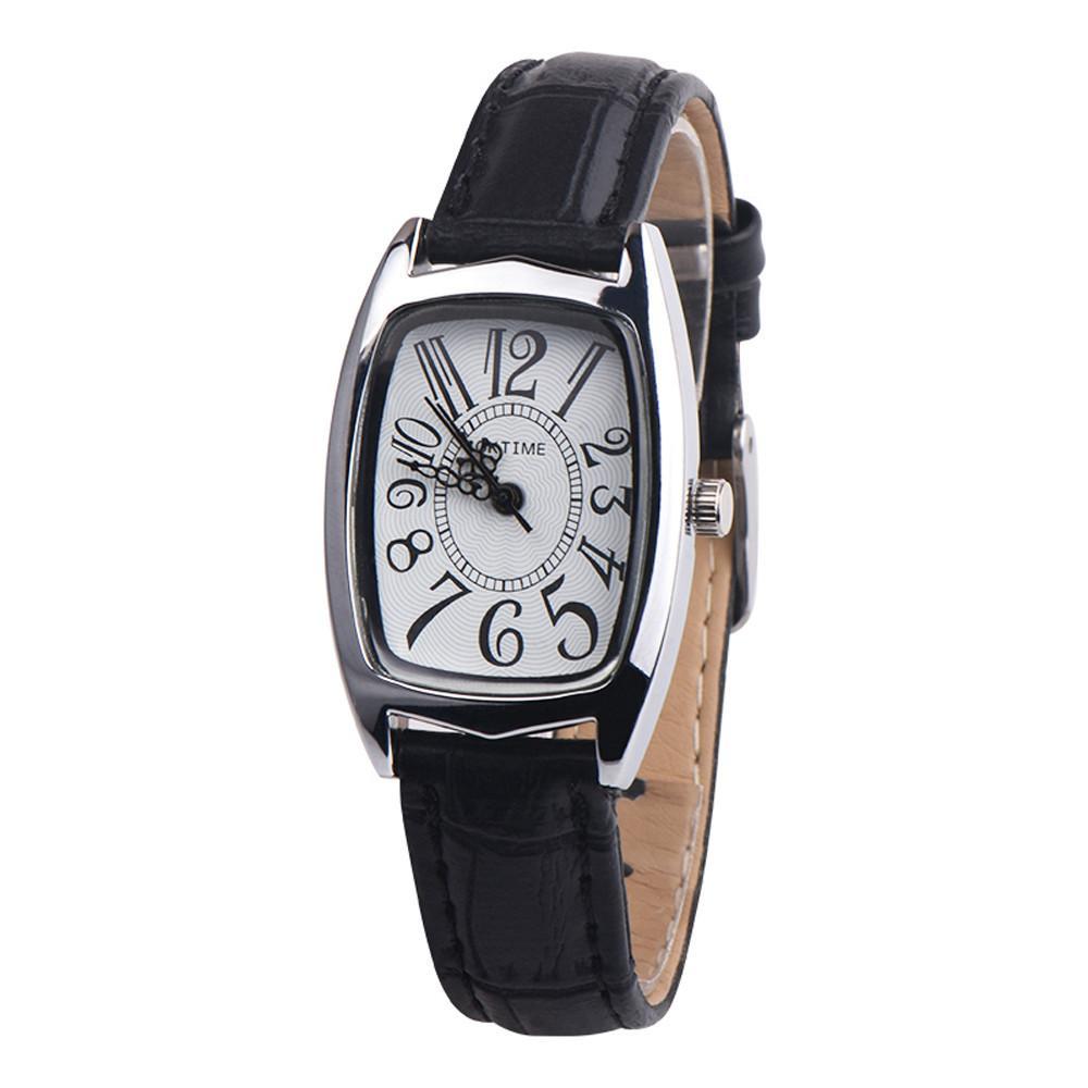 Leather pu stylish band led wrist watch exclusive photo