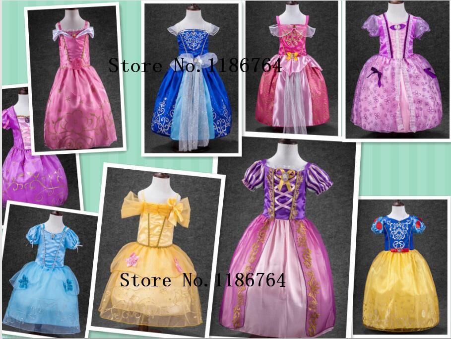 Belle Sleeping Beauty Cinderella Dresses Children Dresses Rapunzel Aurora  Party Halloween Costume Dress Kids Costume Discount Halloween Costumes From  Dayup, ...